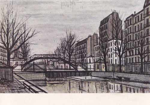Бернар БЮФФЕ - Канал Сан-Мартен. 1956 год - 2