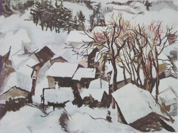 Ренато ГУТТУЗО  - Зимний пейзаж в Ломбардии. 1960  год.