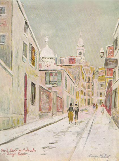 Морис Утрилло - Монмартр. Зимний пейзаж. 1934