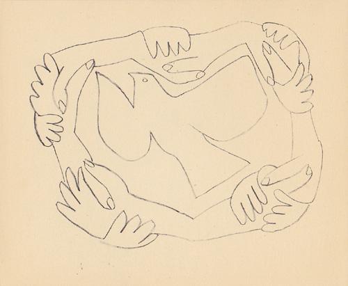 Пабло ПИКАССО - Голубь. 1950 г.