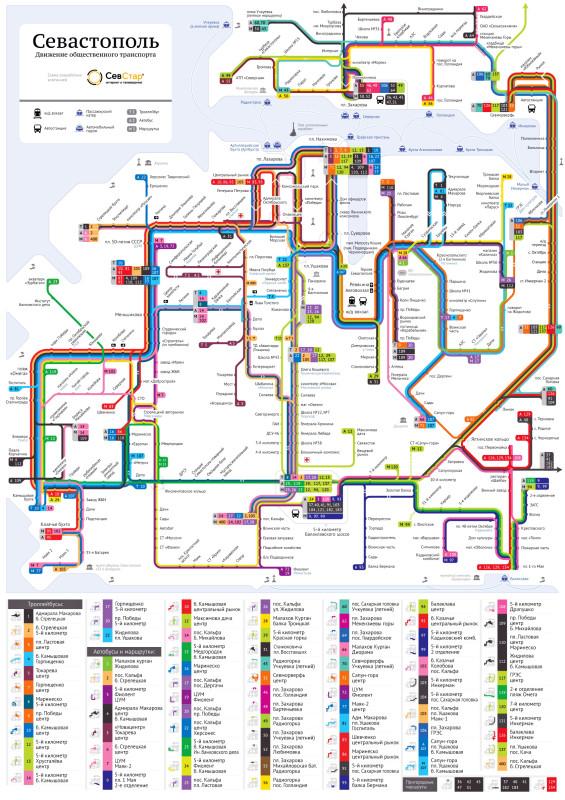 Схема проезда маршрутного такси