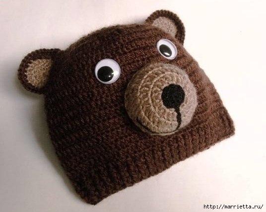 Шапка медведя связать