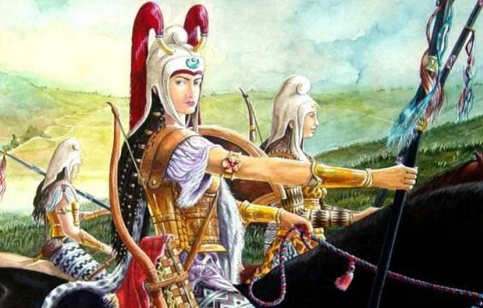 Сексуальные античные воительницы