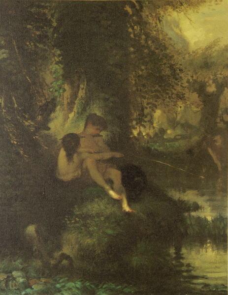 Рис. 2. Жан-Франсуа Милле, «Дафнис и Хлоя», ХIХ в.
