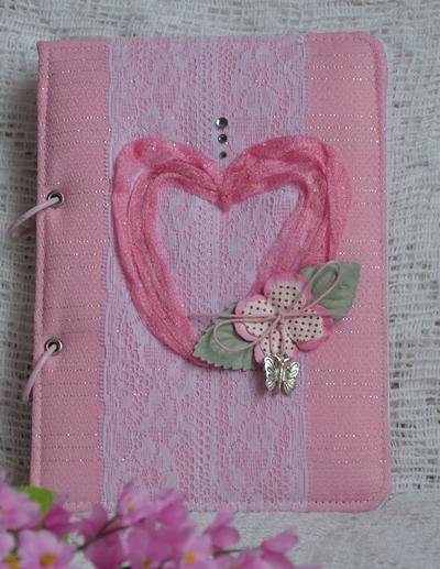 Розовый блокнот на кольцах1