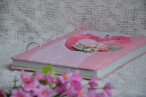 Розовый блокнот на кольцах2