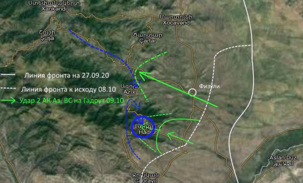 Война в Карабахе 13 октября: Почему Гадрут превращается в карабахский