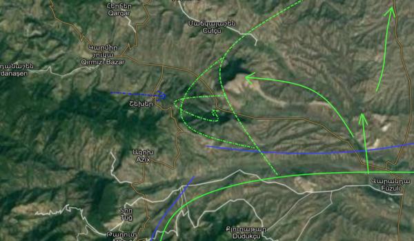 Война в Карабахе 24 октября: Лачин, Сражение за Красный Базар