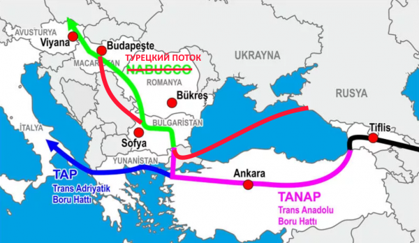 «Турецкий поток» против TANAP (Часть 1): Труба уже есть, но газа для нее нет