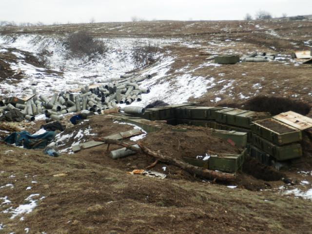 Ольховатка Артиллерийская позиция украинских войск до ближайших домов 50 метров