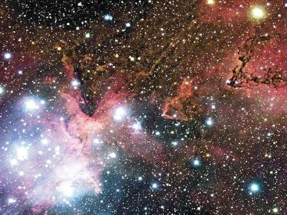 Звёзды и освещённые их светом газопылевые облака