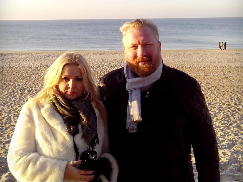 На фото: Елена Горская и Юрий Горский. Литва. Паланга, 30.11.2014