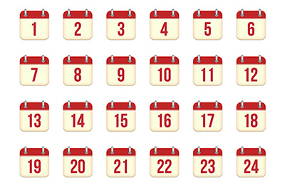 calendar icons for every day - Creative Market