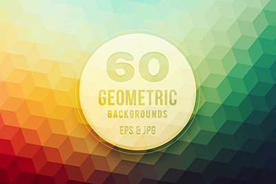 colorful geometric vector backgrounds bundle - Creative Market