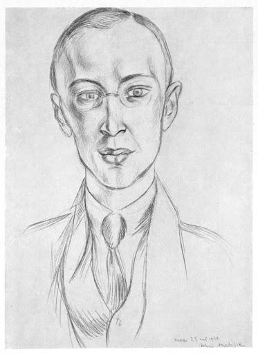 Портрет композитора Сергея Прокофьева работы художника Анри Матисса (1921 год).