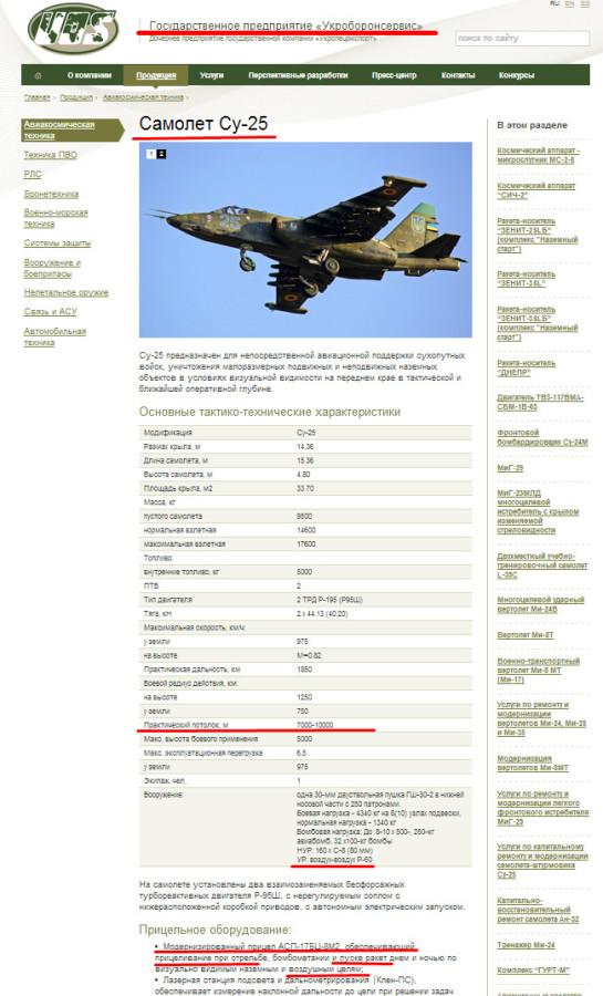 Су-25 по воздушным целям