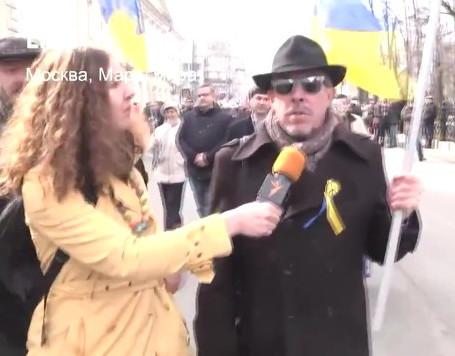 Макаревич под украинским флагом