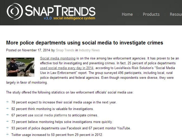 Соцсети в американской полиции