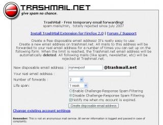 Конкурентная разведка. Одноразовый почтовый ящик Trashmail