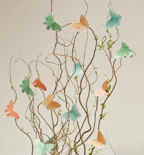 Дерево бабочек своими руками