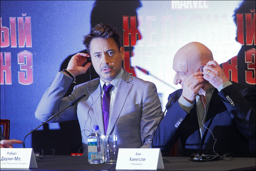 Robert Downey Jr. and  Ben Kingsley