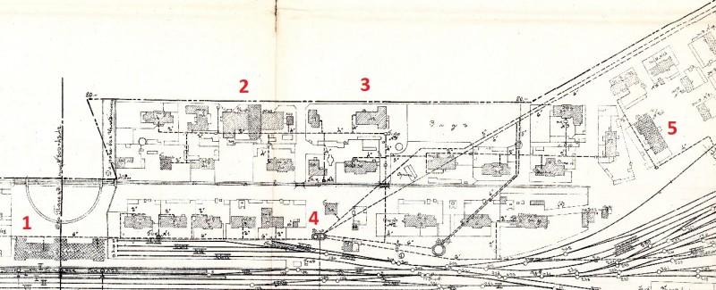 Источник: РГИА, Ф. 350. Оп. 96. Д. 366. План расположения путей и зданий на станции Челябинск Сибирской железной дороги. 1911 г.