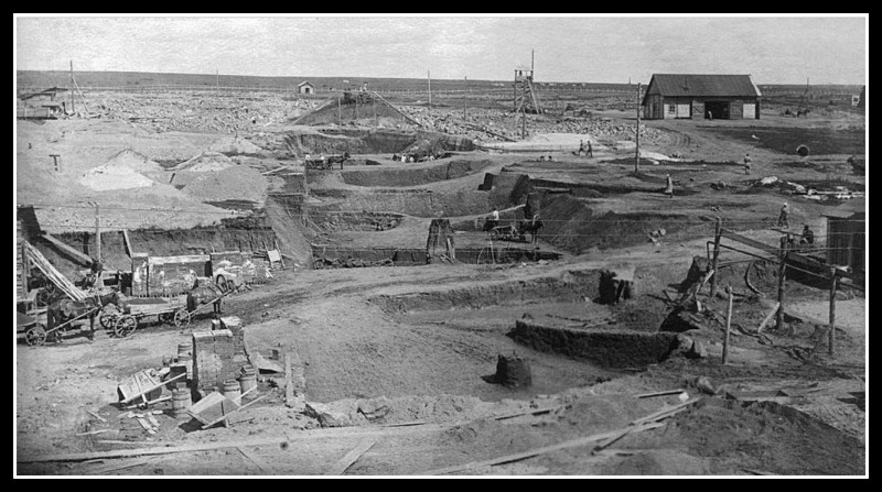 1927 год. Выемка грунта. Фотография из фонда Государственного исторического музея Южного Урала