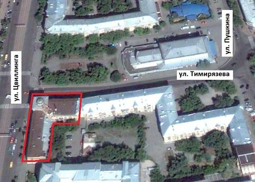 Местонахождение: г. Челябинск, ул. Тимирязева, 31/ул.  Цвиллинга, 39