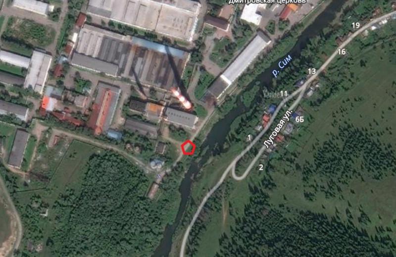 Местонахождение: Челябинская область, г. Сим. Место, где находился дом плотинного мастера