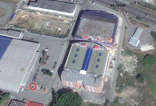 Местонахождение: г. Челябинск, на площади около зданий по ул. Труда, 183Б и ул. Труда, 187А