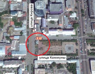 Местонахождение: около здания по адресу ул. Кирова, 161, площадь, г. Челябинск