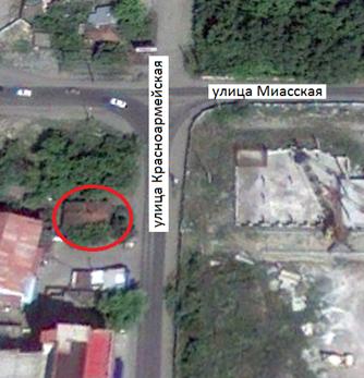 Местонахождение: Снимок со  спутника. Июль  2010 г.ул. Красноармейская, 68, г. Челябинск