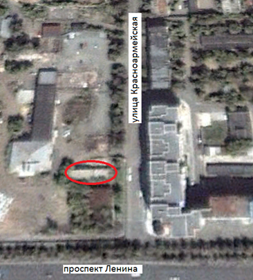 Местонахождение: Снимок со спутника. Октябрь 2000 г. Красноармейская, 166, г. Челябинск