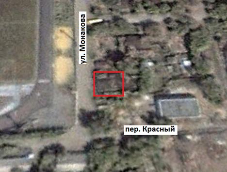 Дом находился по адресу: г. Челябинск,  ул. Монакова, 37. Снимок со спутника 6 октября 2000 г.