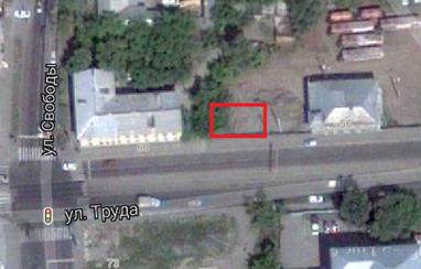 Место, где находился дом по ул. Труда, 58, г. Челябинск