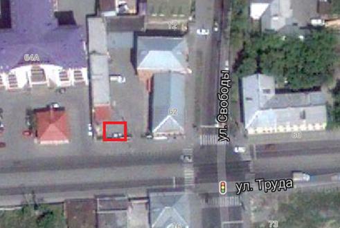 Место, где находился дом по ул. Труда, 62а, г. Челябинск