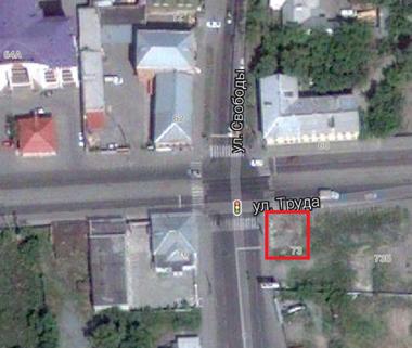 Место, где находился дом по адресу ул. Труда, 73, г. Челябинск