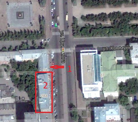 Местонахождение: 1 – расположение мемориальной доски,2 – дом, где жила писательница Власова С.К., ул. Цвиллинга, д. 28а, кв. 42, г. Челябинск