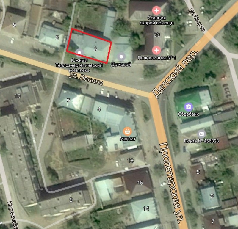 Местонахождение: Челябинская область, г. Миасс, ул. Ленина, 3