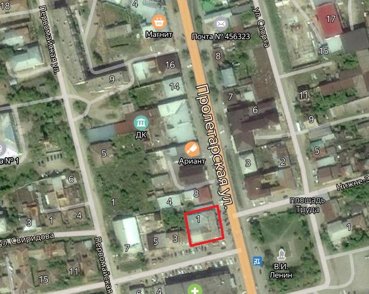 Местонахождение: Челябинская область, г. Миасс, ул. Пролетарская,  4