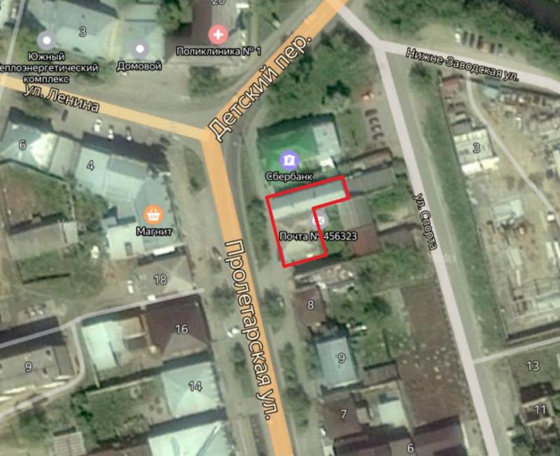 Местонахождение: Челябинская область, г. Миасс, ул. Пролетарская,   13