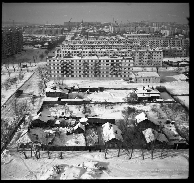 Заречье строится. Фото М. Петрова. 1970 год. Из фонда ГИМ Южного Урала