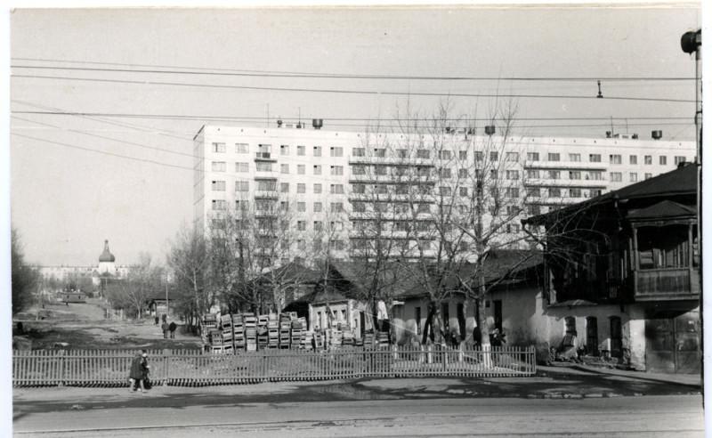 1971 год. Вид на запад от улицы Кирова