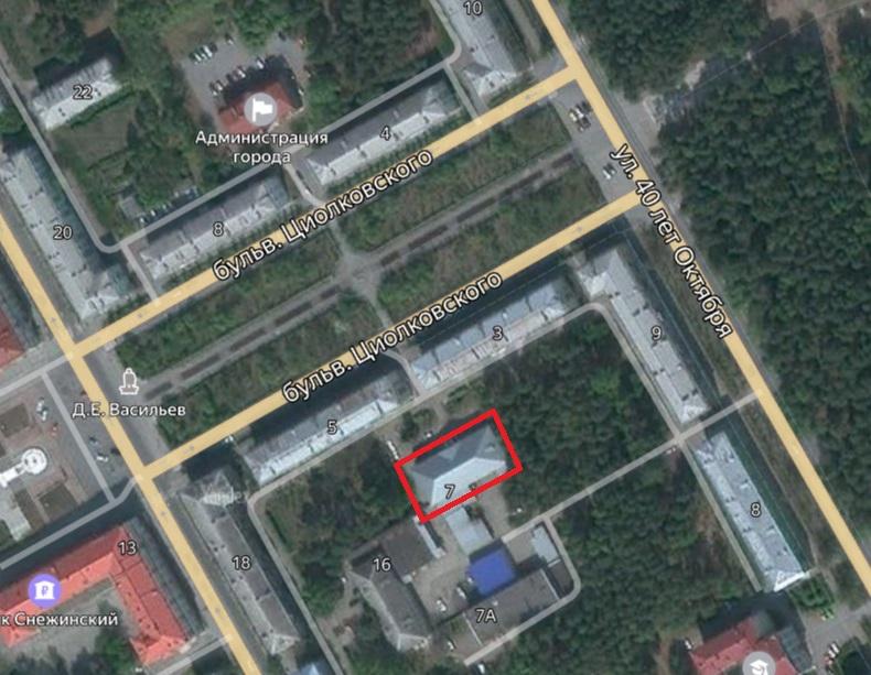Местонахождение: Баня1958 г.памятникг. Снежинск,ул. Циолковского  , 7