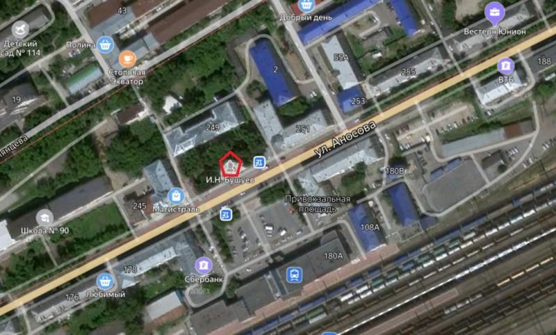 Местонахождение: г. Златоуст г.  Памятник расположен на улице Аносова, у здания 249 на привокзальной площади, напротив здания железнодорожного вокзала.