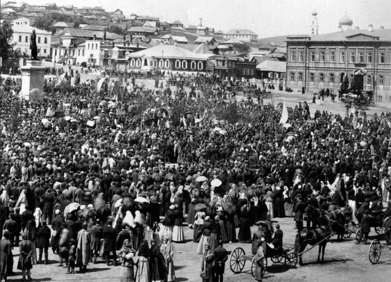 Открытие памятника царю Александру 2. 16.06.1891 г.