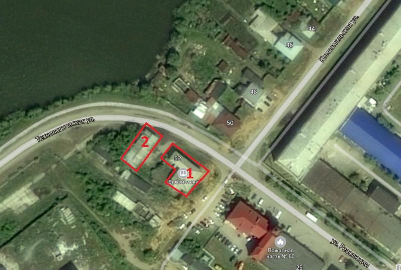 Местонахождение: г. Касли, Комсомольская   ул, 52: 1 - основное здание, 2- приусадебное хозяйственное здание