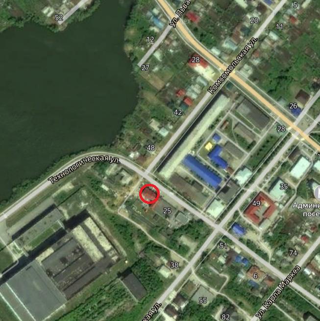 Место, где находился утраченный объект культурного наследия:  г. Касли, Комсомольская ул., 25