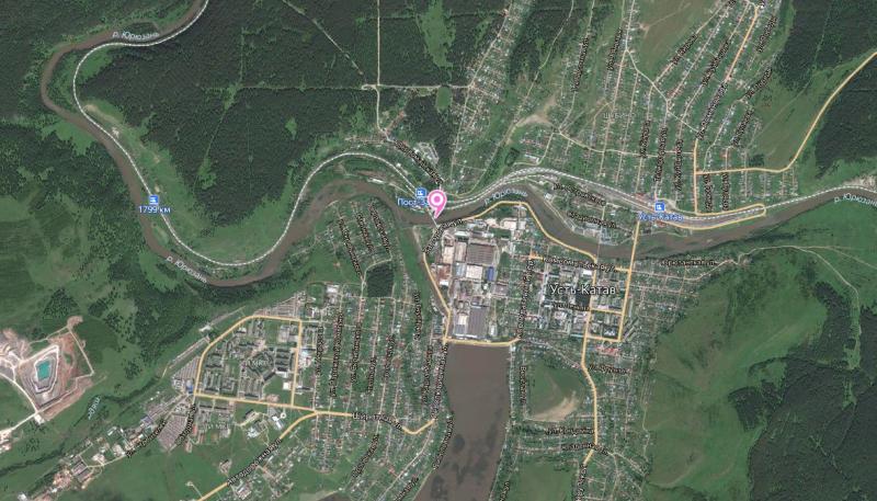 Местонахождение: г. Усть-Катав, Речной проезд, сооружение №1