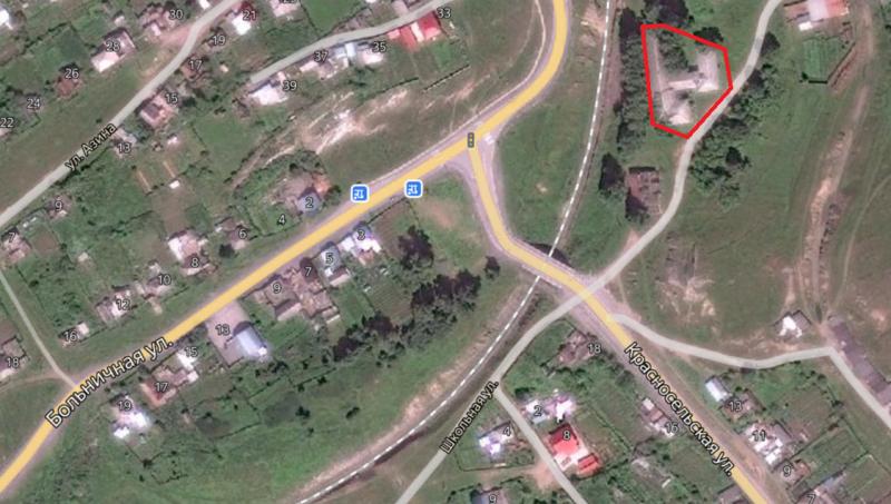 Местонахождение: г. Катав-Ивановск, на перекрёстке ул. Больничной и ул. Красносельской